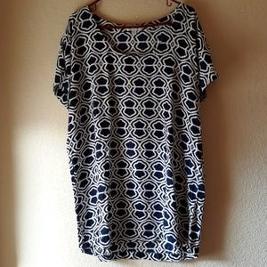 ESCAPADA Raglan Sleeves Blouse XL - Blue White